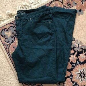 Mossimo Curvy Skinny Dark Teal Colored Jeans